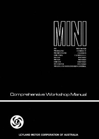 Leyland Australia Workshop Manual for Mokes and Minis