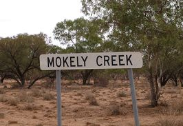 Mokely Creek Sign on the Camerons Corner Road