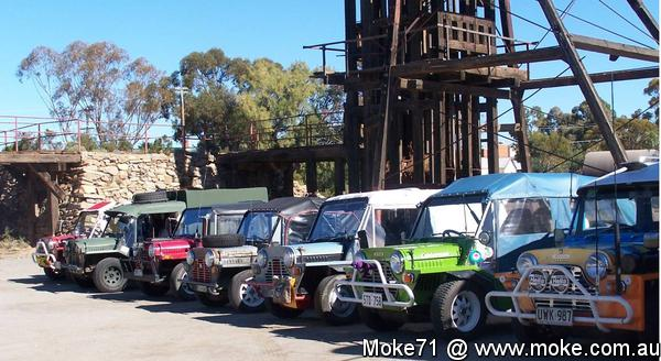 Mokes at Broken Hill 2011