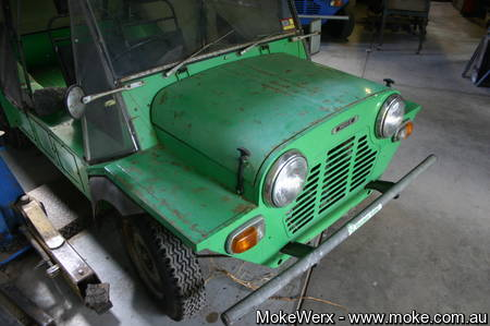 Moke in NV Green Paint Colour