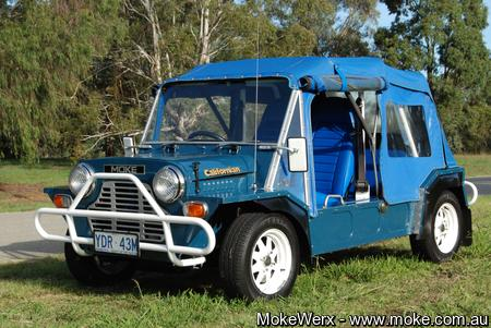 Peter L Squadron Blue Moke called Stealth