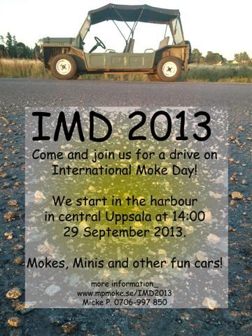 International Moke Day 2013 Sweden Invitation
