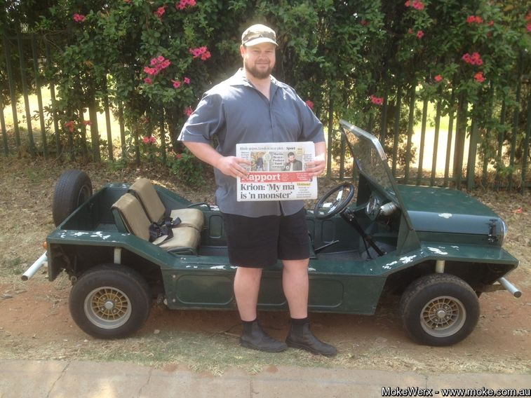 Boet's son in his other Moke for International Moke Day 2017 in Sth Africa