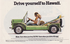 drive to hawaii  Moke Advertisement