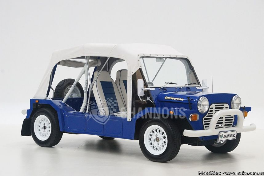 Blue Export Moke sold at Shannons Auction