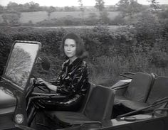 Diana Rigg  Driving a Moke in the Avengers