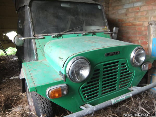 The Envy Moke as it was found after 22 years.