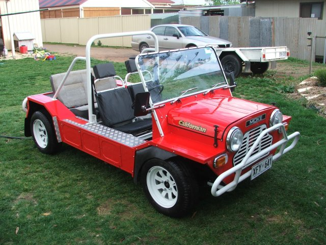 Andrew Geue and his 1980 Moke