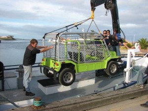 Loading the Top Gear Shark Moke