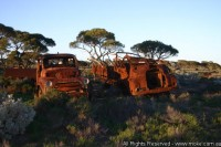 And even a few trucks dot the landscape at Koonalda Homestead
