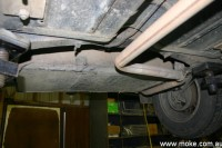 Rear Moke tank exhaust pipe