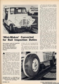 TGR Rail Mokes Magazine Article from 1967