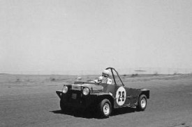 Hicks racing Moke at Phillip Island